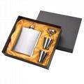 Portable Stainless Steel Hip Flask Flagon Set Pocket Flask Flagon  Whiskey Mug 5