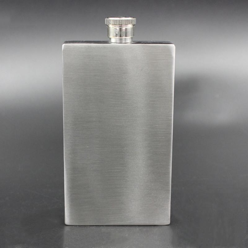 Outdoor flat square wine bottle rectangle shaped 7oz  stainless steel hip flask 1