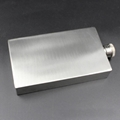 Outdoor flat square wine bottle rectangle shaped 7oz  stainless steel hip flask 2