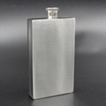 Outdoor flat square wine bottle rectangle shaped 7oz  stainless steel hip flask 3