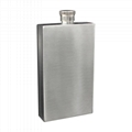Outdoor flat square wine bottle rectangle shaped 7oz  stainless steel hip flask 5