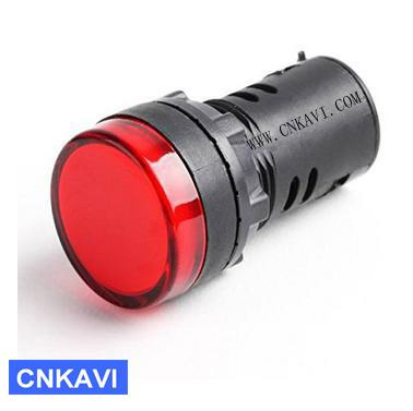 Led Pilot Lamp Signal Light Indicator Light 22mm AD26B-22DS Red  1