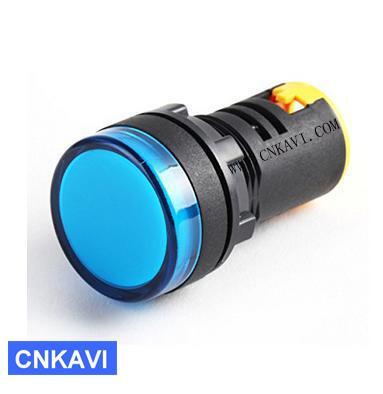 Led Pilot Lamp Signal Light Indicator Light 22mm AD26B-22DS Blue 4