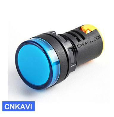 Led Pilot Lamp Signal Light Indicator Light 22mm AD26B-22DS Blue 1