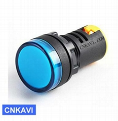 Led Pilot Lamp Signal Light Indicator Light 22mm AD26B-22DS Blue