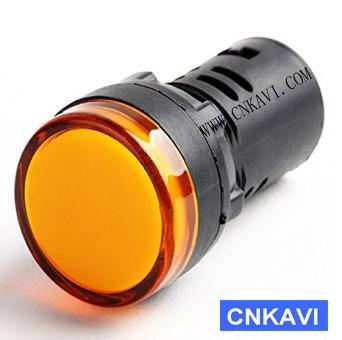 Led Pilot Lamp Signal Light Indicator Light 22mm AD26B-22DS  Yellow 1