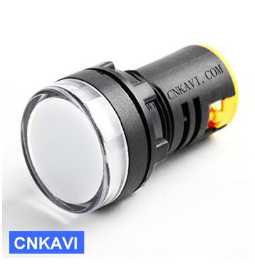 Led Pilot Lamp Signal Light Indicator Light 22mm AD26B-22DS White 1
