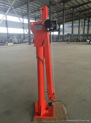 500kg foldable and telescopic electric winch hoist
