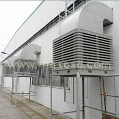 Maxesc roof mounted evaporative air cooler in 30000m3/h airflow