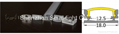 1m Length LED Aluminum Profile For Led Strip