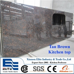 India Tan Brown Granite Kitchen Prefab Countertop