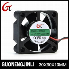 Manufacture selling 12v dc 3010 cooling fan notebook fan with low noise
