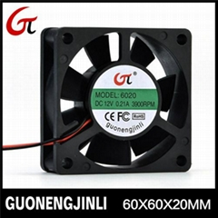 Manufacture selling 12V 6020 dc cooling fan with waterproof
