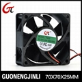 Manufacture selling 12V 7025 dc cooling