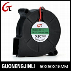 Manufacture selling 12V 5015 dc blower fan with large air flow for automobile cu