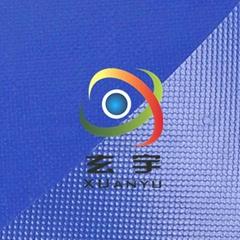 浙江工厂生产供应1000D高密度高强度630克PVC刀刮涂层夹网布
