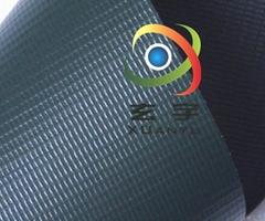 浙江工厂生产销售500D18*12箱包篷盖PVC夹网布