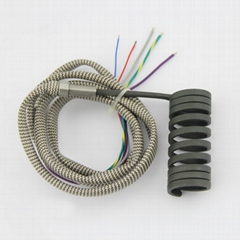 Mini Black Kelvar Sleeving Flat Coil Heater water immersion electric coil heater