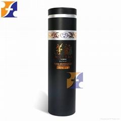 Cardboard Custom Wine Glass Bottle Gift Packaging Tube Box