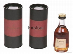 Custom Wine Glass Packing Paper Tube with Tinplate Lid