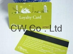 Custom nfc plastic pvc rfid card with magnetic strip