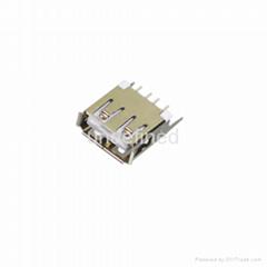USB連接器2.0 母座180度直插單層15.0