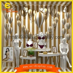 custom underwear store for visual window display props balloon