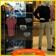 men's clothing sotre custom display stand for visual window prop