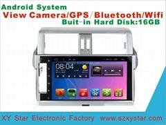 Android system 5.1 car dvd  for Toyota Prado 2014