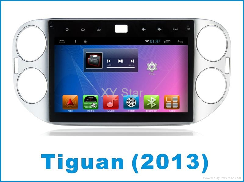 Android system car gps for Tiguan 9 inch with navigation 2
