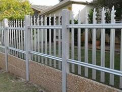 Galvanized Palisade Fence
