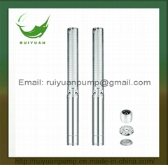 4 Inches 2.2KW 3HP Stainless Steel Copper Wire Deep Well Submersible Water Pump