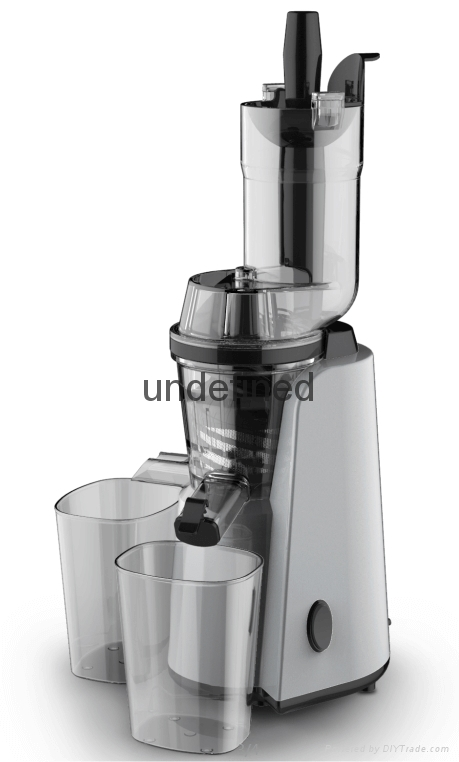 BPA Free78mm Big Mouth Low Noise Electric Whole Fruit Slow Juicer-Grey 1