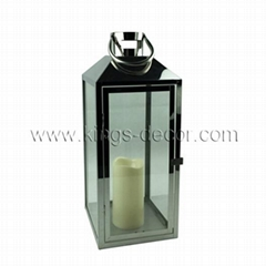 Outdoor use stainless steel led candle lantern