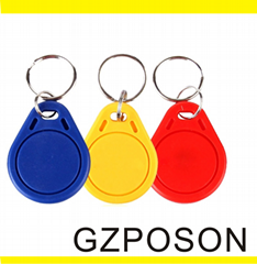 Writable 13.56MHZ RFID Smart Card Key Tag with Different Color/Shape