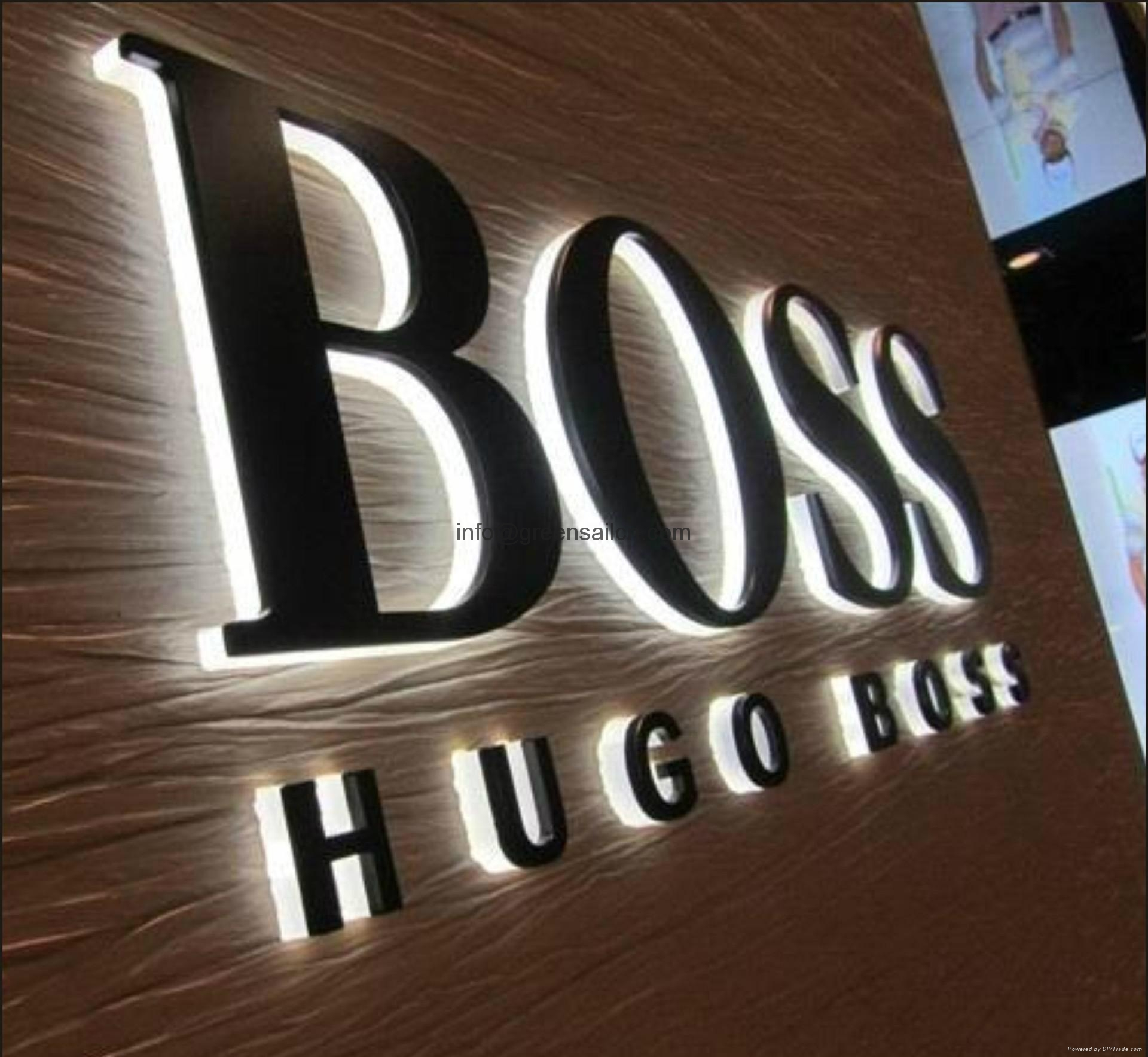 Led Illuminated Channel Letter Logo Signs Customized 3d