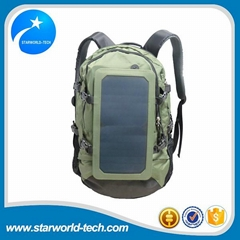 High quality solar panel bag with 6.5W solar power charger for mobile