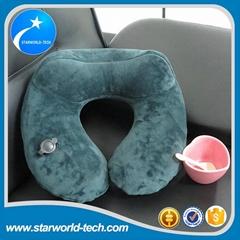 Inflatable travel pillow u shape neck massager