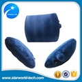 Inflatable pad back pillow headrest