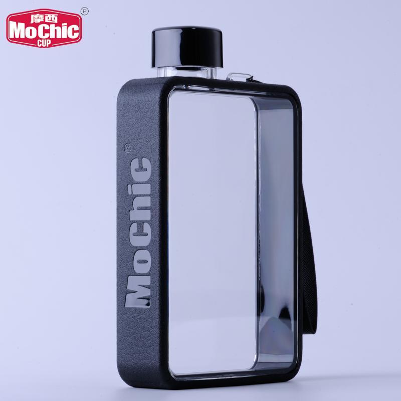 MoChic摩西A5扁平水杯定制便携纸张水瓶杯子韩版创意塑料水壶批发 2