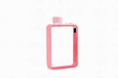 MoChic摩西A5扁平水杯定制便携纸张水瓶杯子韩版创意塑料水壶批发
