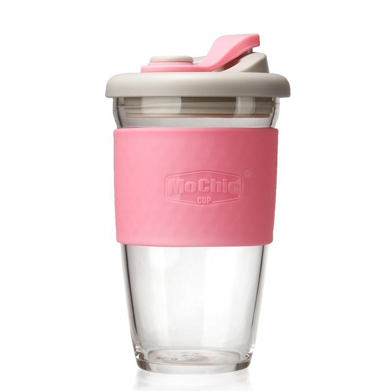 咖啡杯随手杯定制 密封高硼硅玻璃LOGO定制 1