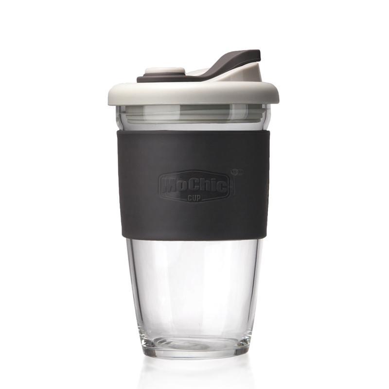 咖啡杯随手杯定制 密封高硼硅玻璃LOGO定制 2