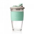 咖啡杯随手杯定制 密封高硼硅玻璃LOGO定制 3