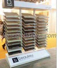 SRT010 xiamen Granite marble acrylic display rack