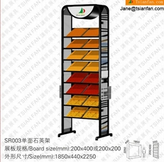 xiamen SR019 marble and granite Countertop Display Racks For 10*10 mm Artificial