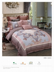 luxury reactive printed bedding set household bedding