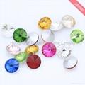 Rivoli chaton Glass Beads Point Back