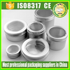 aluminum cosmetic bottles and jars 10ml gold aluminium tins