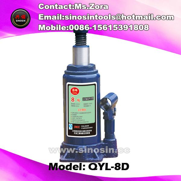 8 ton with safety valve Approved Car Jack&Hydraulic Jack&Hydraulic Bottle Jack 1